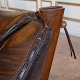 Leather Lounge Sofa by Percival Lafer, Brazil, Circa 1960 thumbnail 4