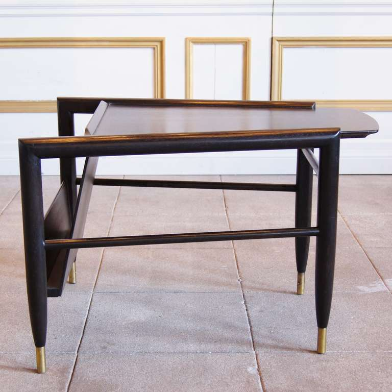 Wedge table with magazine rack by john keal for brown for 13 a table magasin