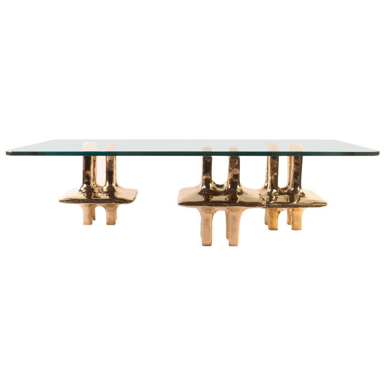 hemispheres bronze coffee table by adam hebb usa 2105