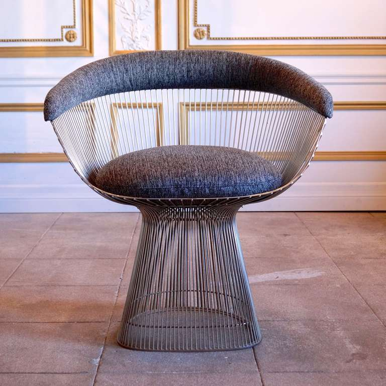 Set Of 4 Warren Platner Dining Lounge Chairs At 1stdibs