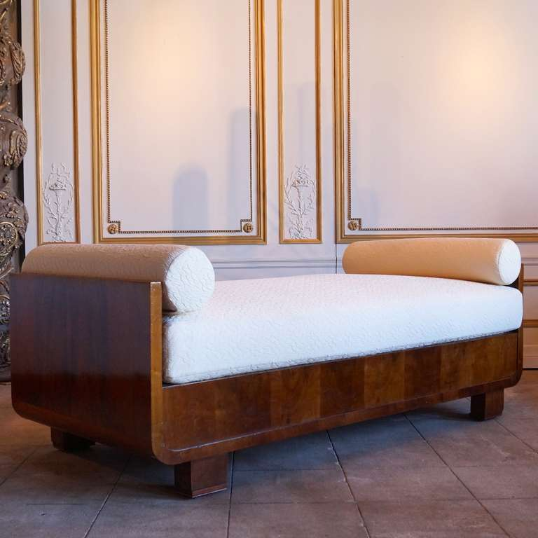 Mahogany Art Deco Daybed France 1930s At 1stdibs