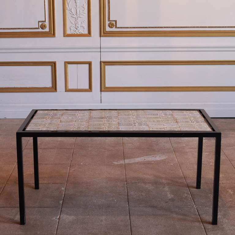 French Ceramic Tile Coffee Table At 1stdibs