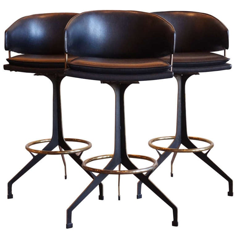 vintage bar stools swivel 2