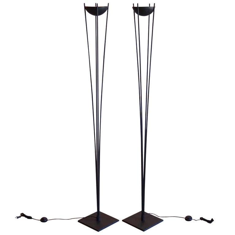 pair of iron floor lamps  usa  circa 1970 at 1stdibs
