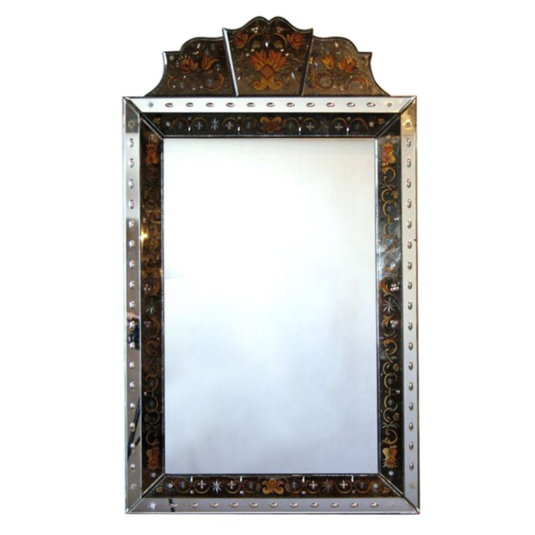 Verre Eglomise Mirror By Robert Pansart At 1stdibs