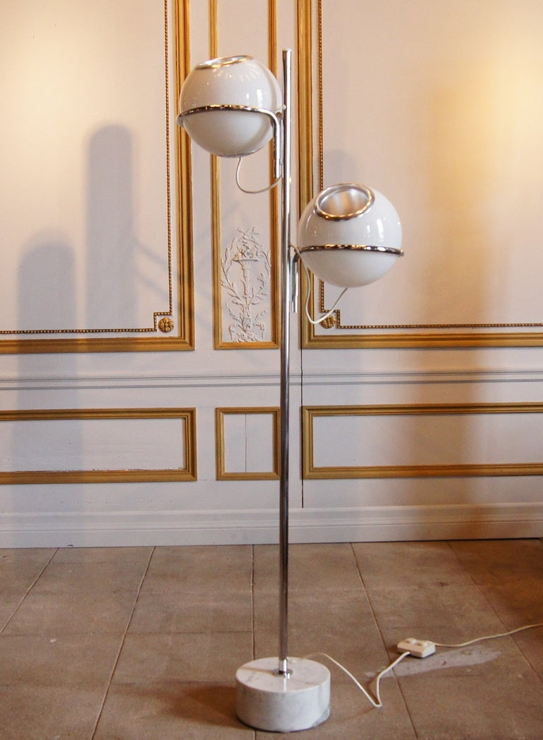 Reggiani Globe Floor Lamp with Marble Base at 1stdibs
