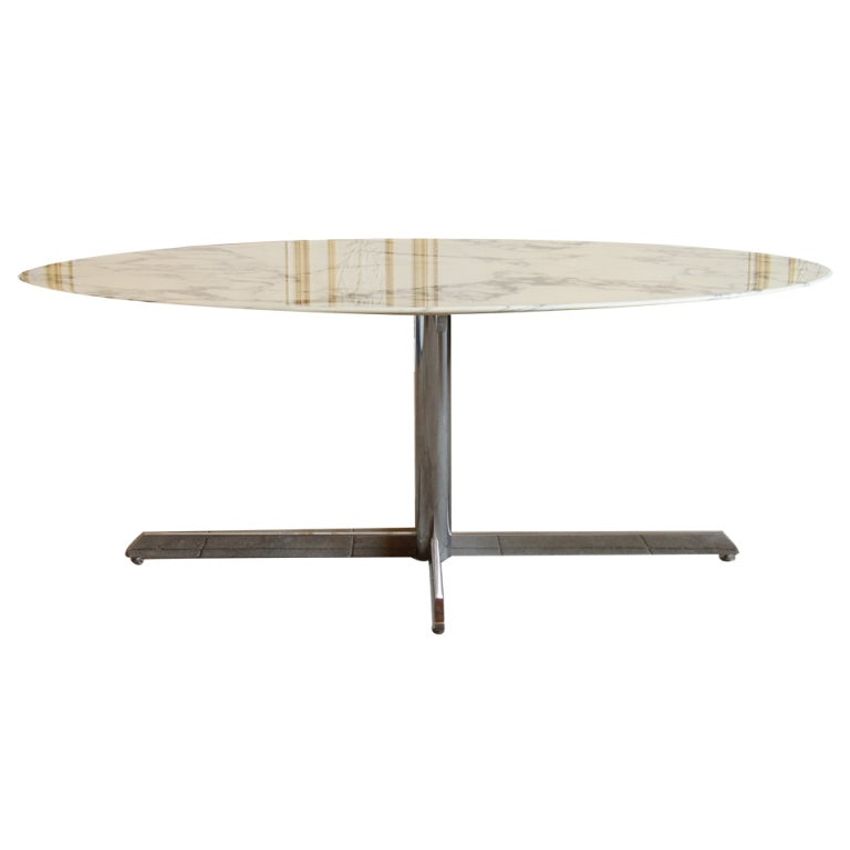 Dining Table Florence Knoll Oval Dining Table