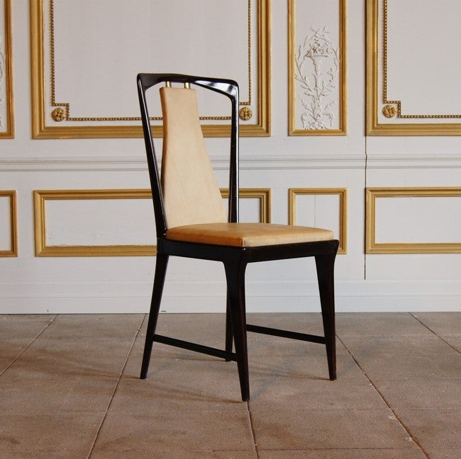 Bronze And Rosewood Set Of 6 Dining Room Chairs At 1stdibs