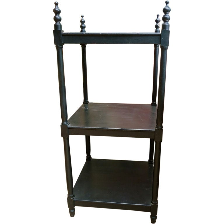 19th century ebonised etagere at 1stdibs - Etagere cases carrees ...