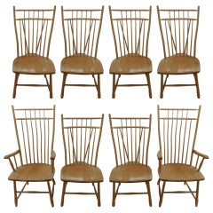 Set of Eight Windsor Dining Chairs
