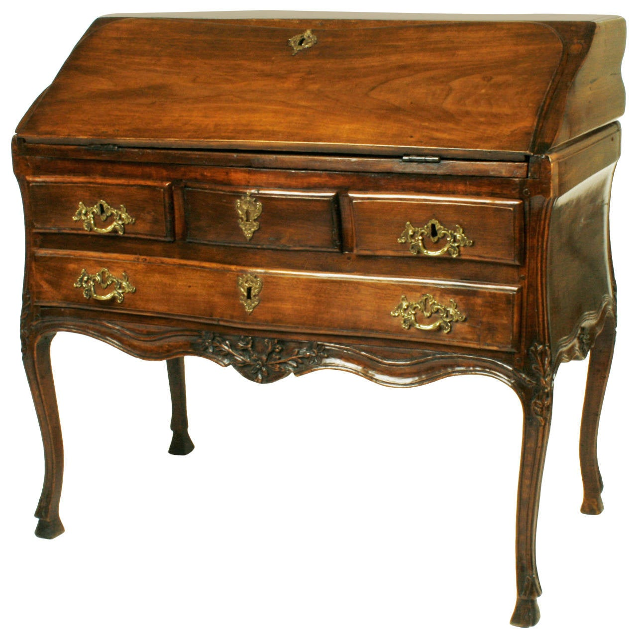 French louis xv fall front bureau c1750 at 1stdibs for Bureau louis xv