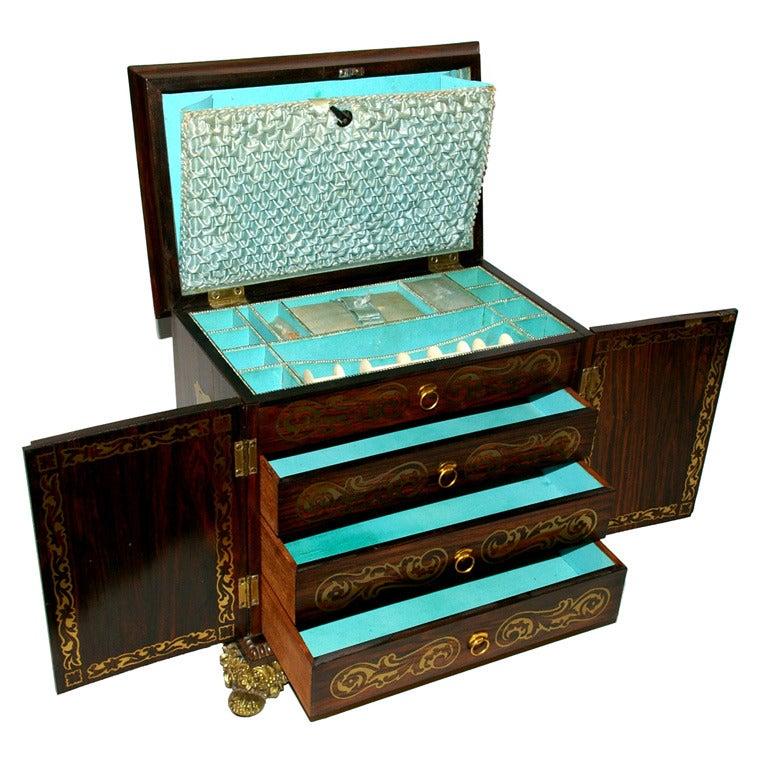 English Regency Sewing Box, circa 1810
