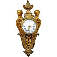 Louis XVI Style Ormolu Cartel Clock, c1880