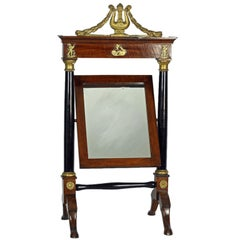 French Empire Mahogany Dressing Table Mirror, c1810