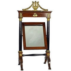 French Empire Mahogany Dressing Table Mirror, c1810