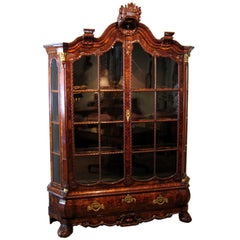 Dutch Rococo Ormolu-Mounted Burl Walnut Cabinet, Late 18th c