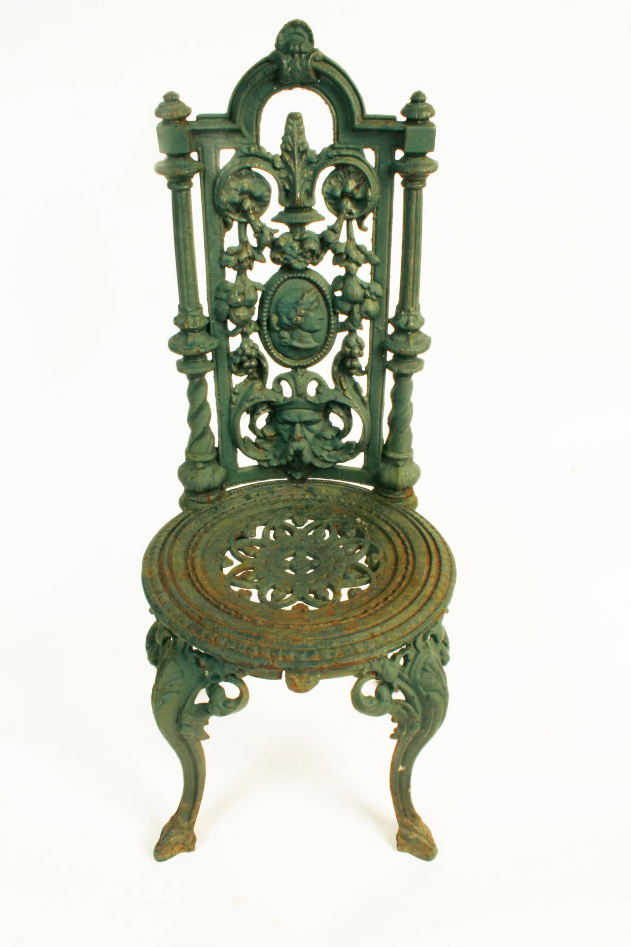 Pair Of Victorian Cast Iron Garden Chairs C1880 At 1stdibs