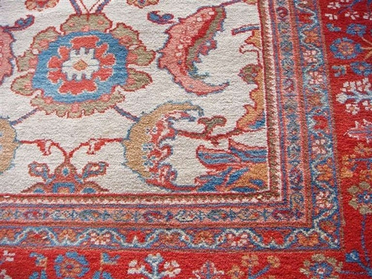 Rare and Important Ziegler Sultanabad Rug, Late 19th Century 2