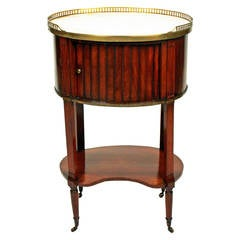 Directoire Oval Tambour Fronted Nightstand, circa 1790