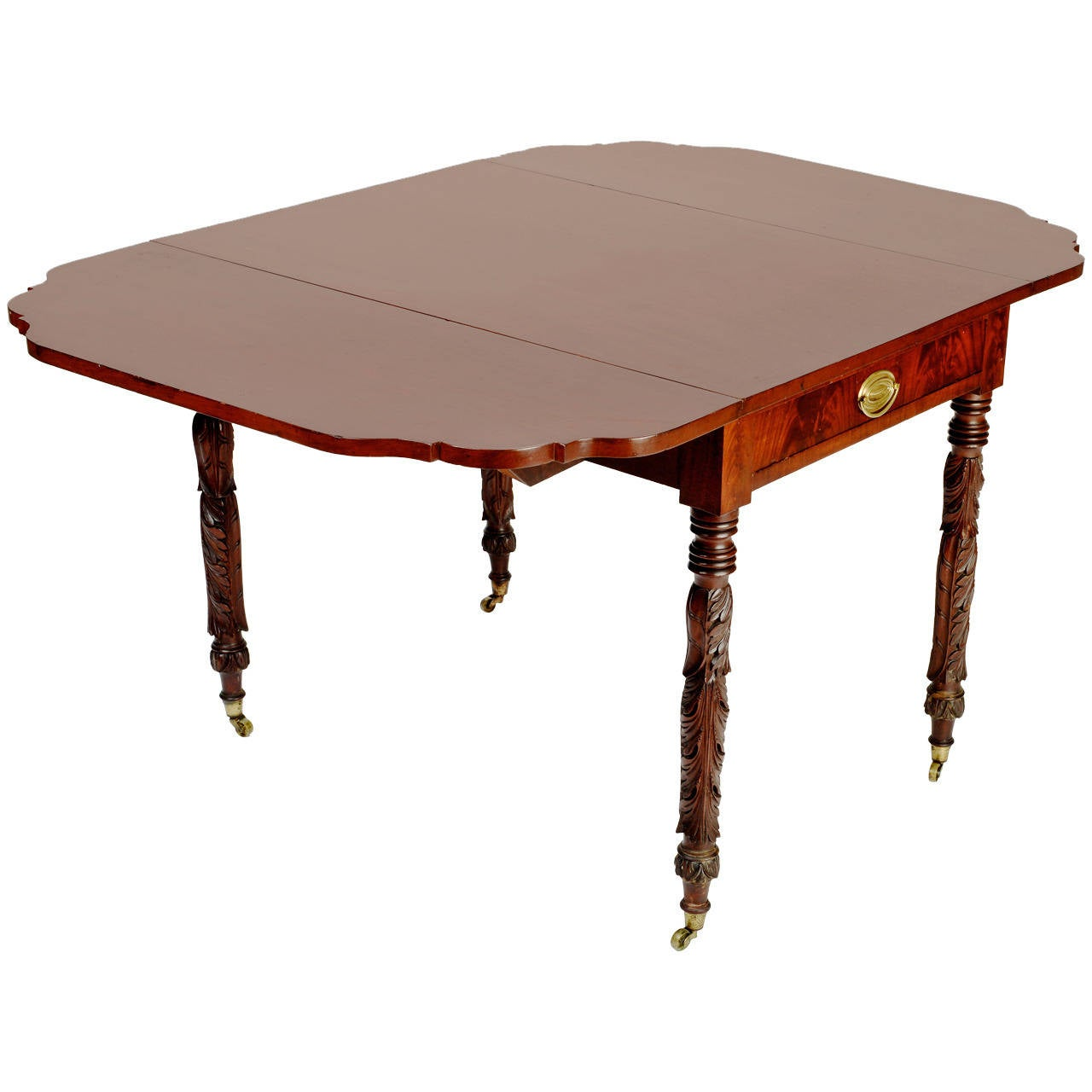 New york mahogany drop leaf table circa 1875 for sale at for Table new york