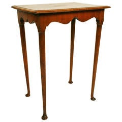 Queen Anne Style Burled Walnut Table, Late 19th Century