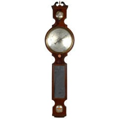 Rare Mirrored George III Barometer, circa 1780