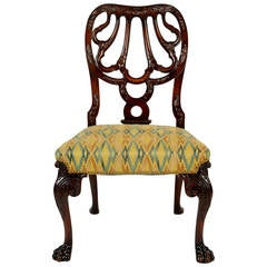English Mahogany Side Chair in the Style of Thomas Chippendale, 19th Century