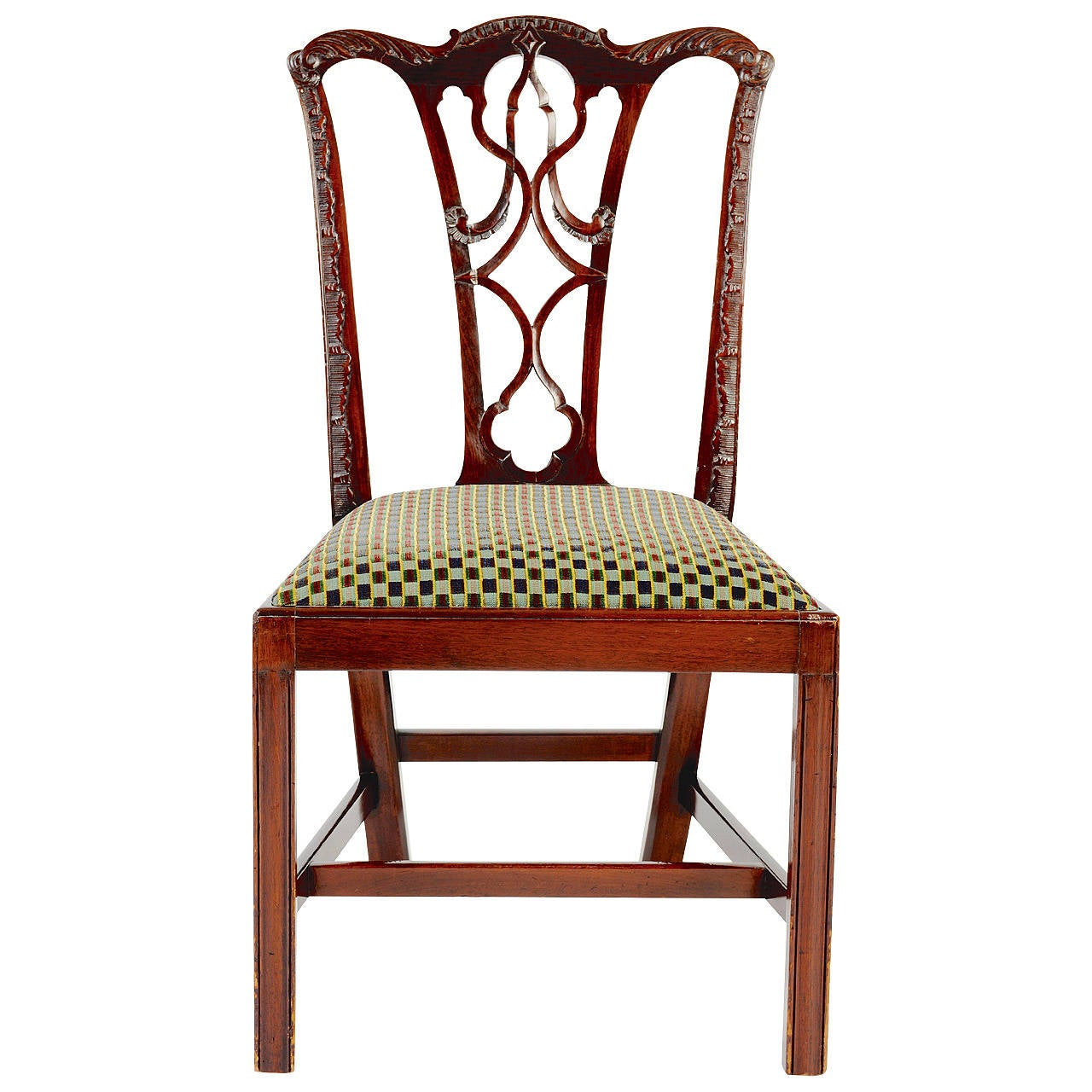 Chippendale Furniture: English Mahogany Side Chair In The Chippendale Style, 19th
