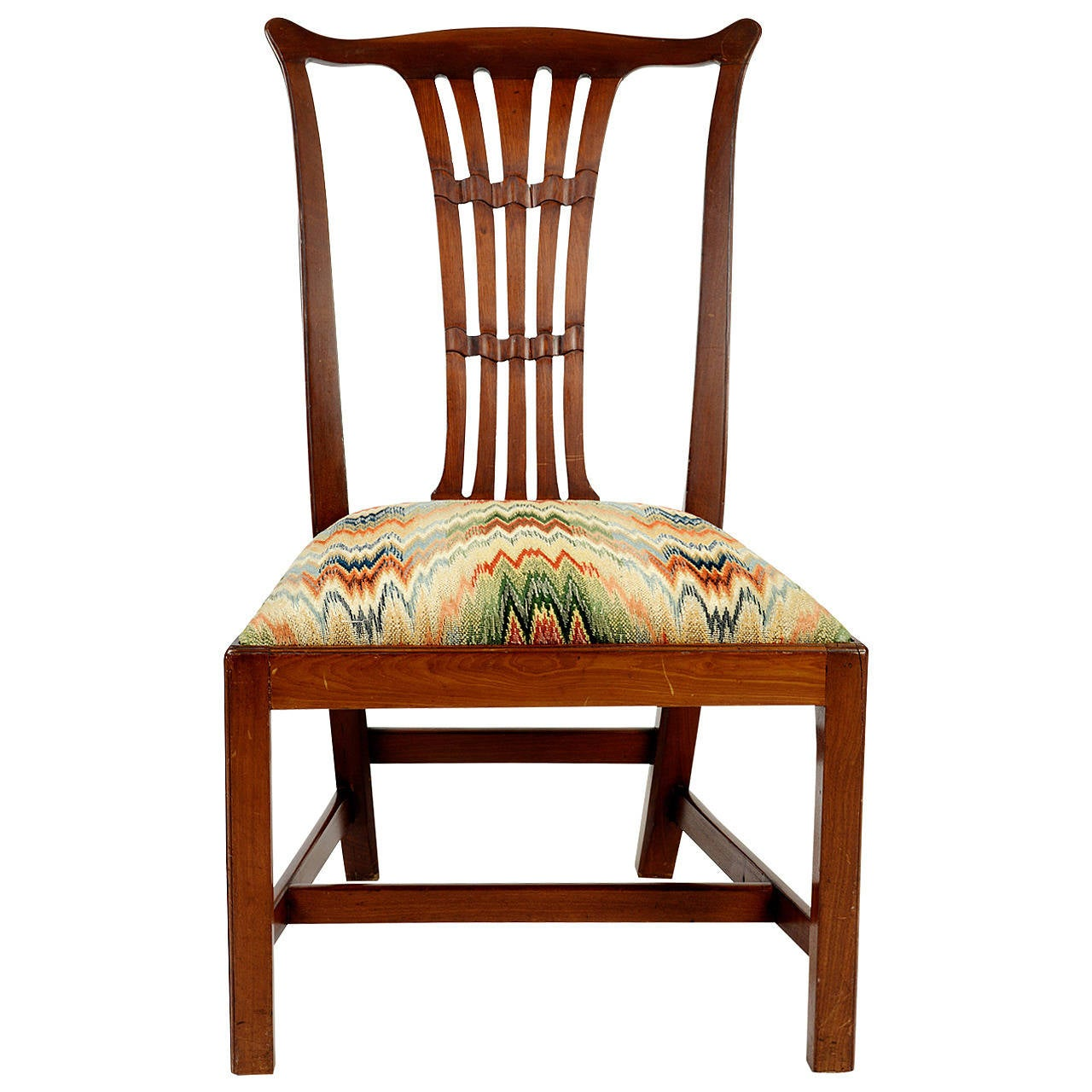 English Mahogany Side Chair in the Chippendale Style, 19th Century