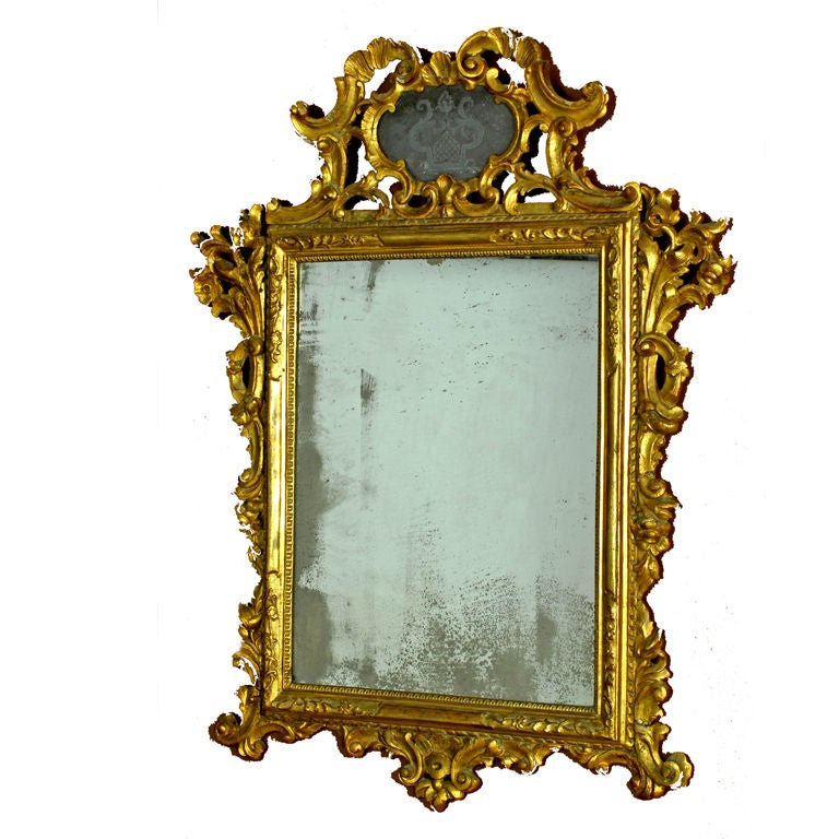 Venetian Gilt Carved Mirror, circa 1750