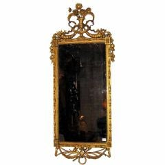 Italian Carved and Gilt Decorated Mirror, circa 1790