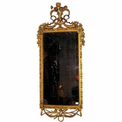 Italian Carved and Gilt Decorated Mirror, c1790