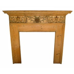 George III Carved Fireplace Surround, circa 1790