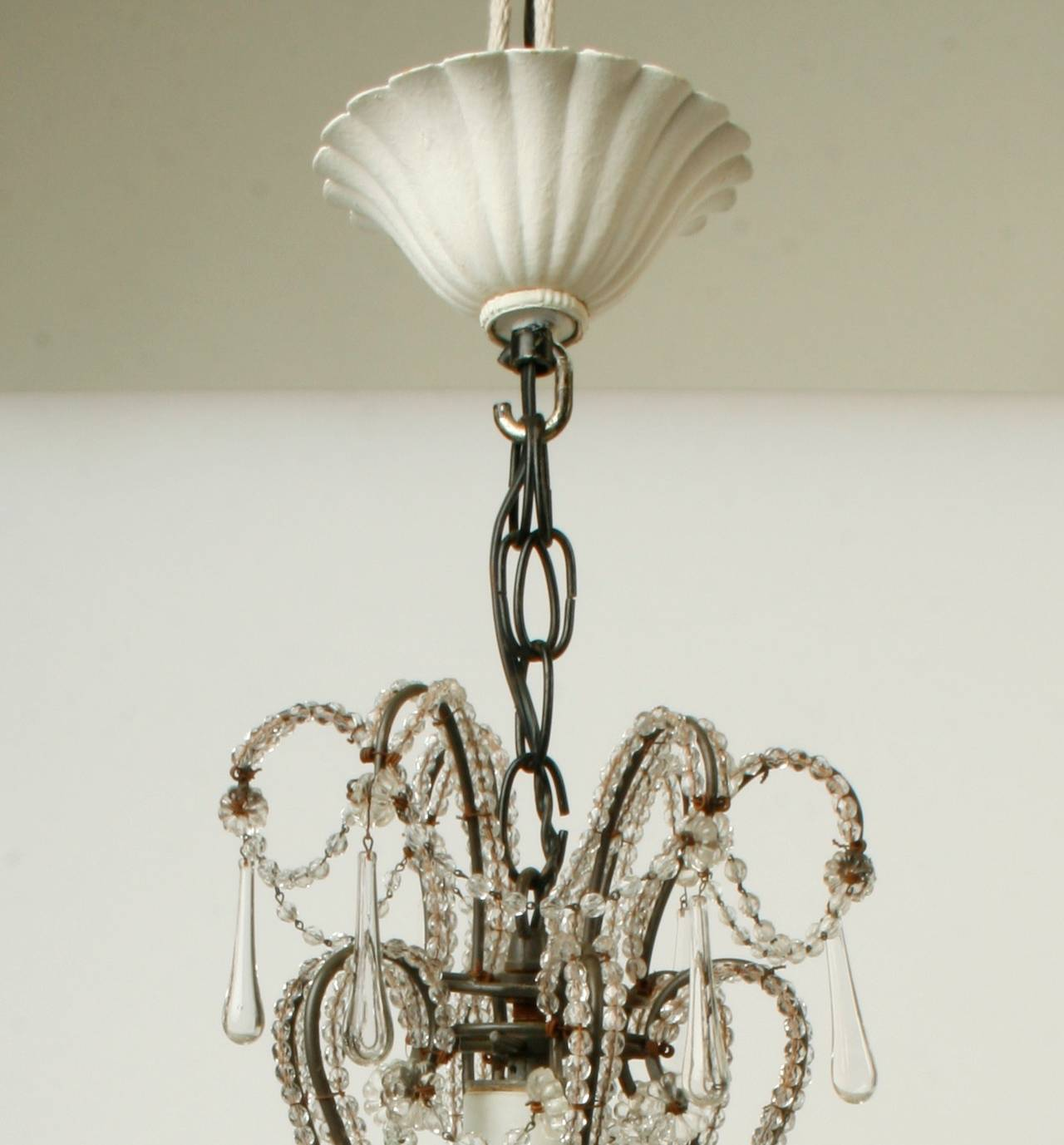 Small french crystal chandelier circa 1920 for sale at 1stdibs - Circa lighting chandeliers ...