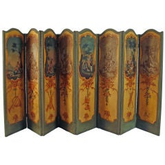 French Eight-Panel Screen, circa 1800