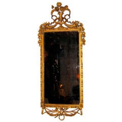 Neoclassical Italian Carved and Gilt Mirror