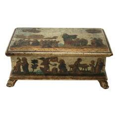 Italian Lacca Povera Box, Venetian, circa 1750