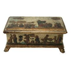 Italian Lacca Povera Box, Venetian, c1750