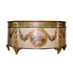 Louis XVI Painted and Gilt Decorated Tole Cachepot, circa 1780