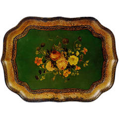 Papier Mâché Tray Signed by Henry Clay, circa 1840