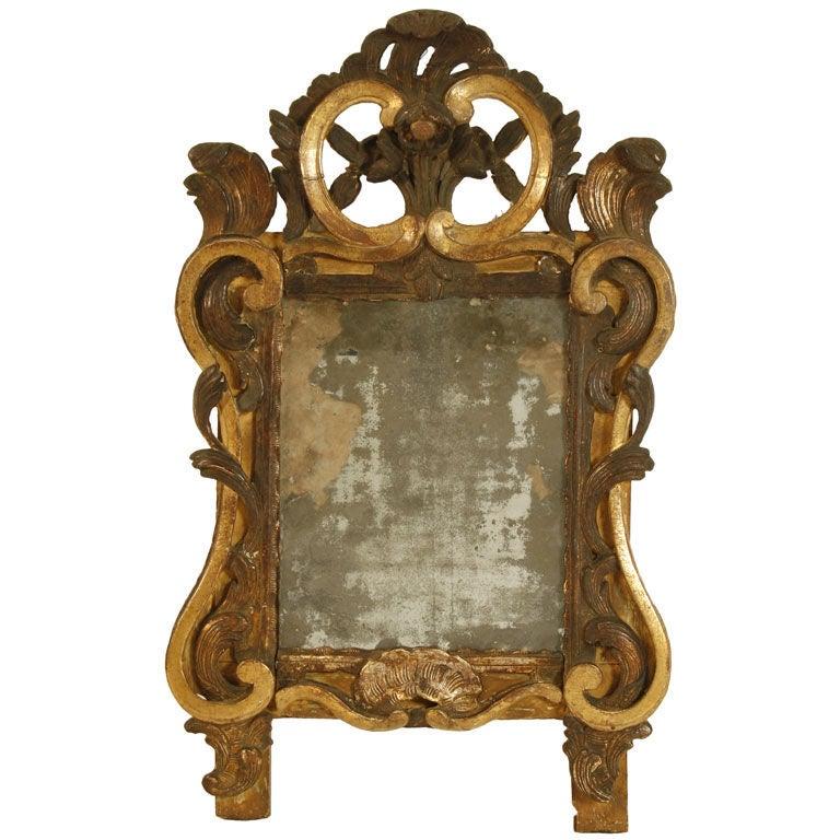 Italian baroque gilt and painted mirror circa 1750 for for Italian baroque mirror