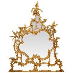 Large George II Style Giltwood Mantel Mirror