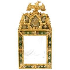 Continental Neoclassical Verre Églomisé Mirror
