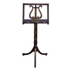 Regency Painted and Gilt Decorated Music Stand, circa 1810