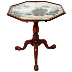 Geo III Style Reverse Painted Chinoiserie Mirrored Top Table, circa 1880