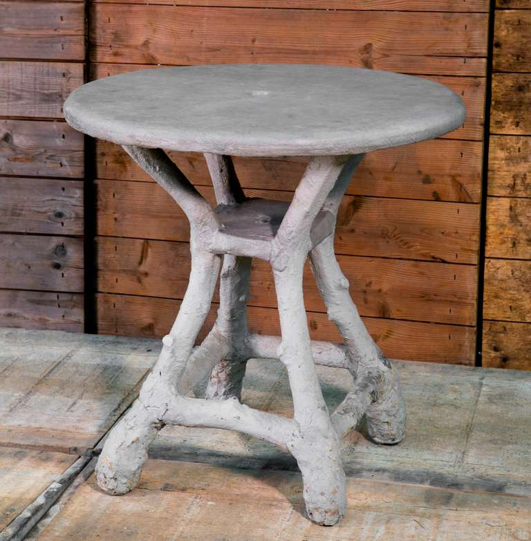 Vintage French Faux Bois Table At 1stdibs