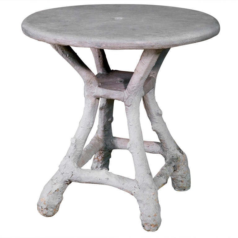 Vintage French FauxBois Table at 1stdibs