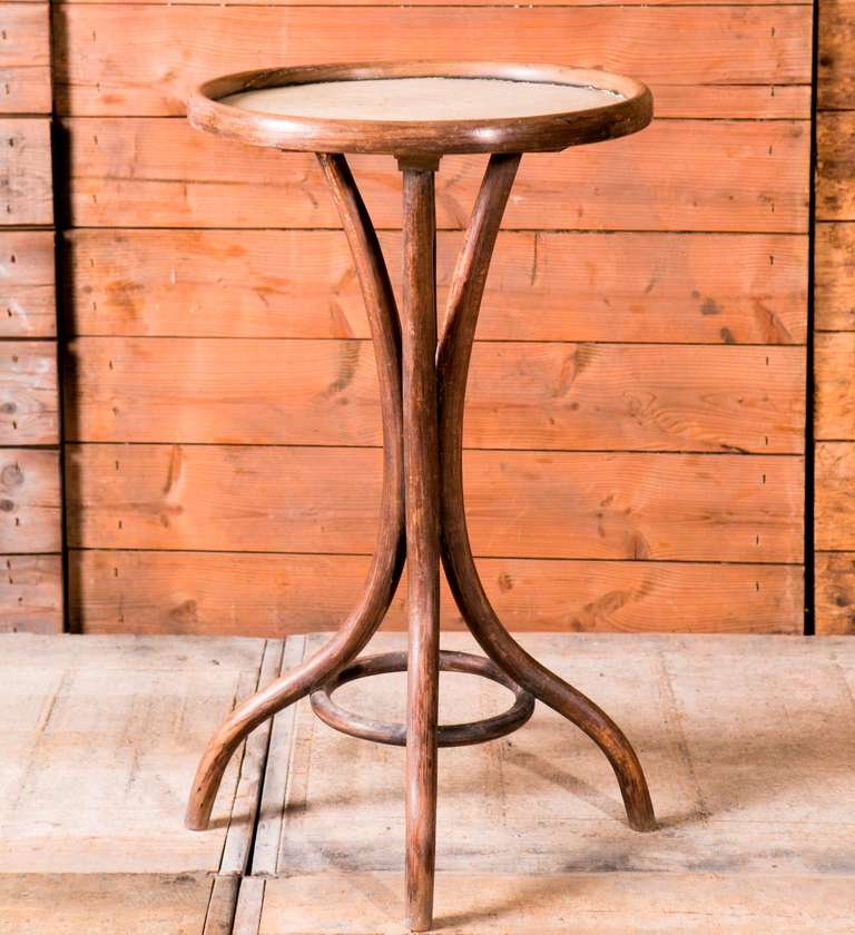 Bent Wood Side Table From Celebrated Austrian Furniture Makers Thonet Circa 1910