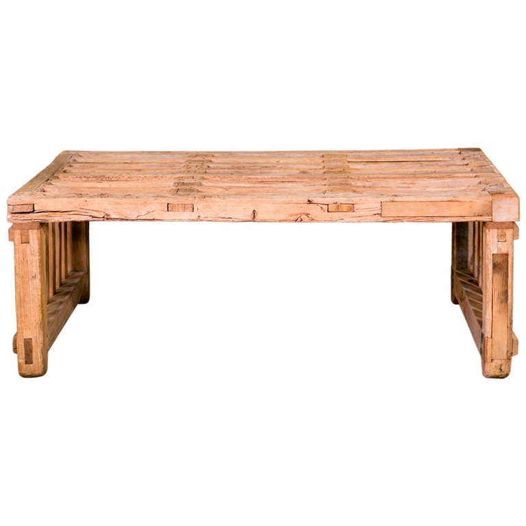 Custom Made Parson Style Coffee Table At 1stdibs