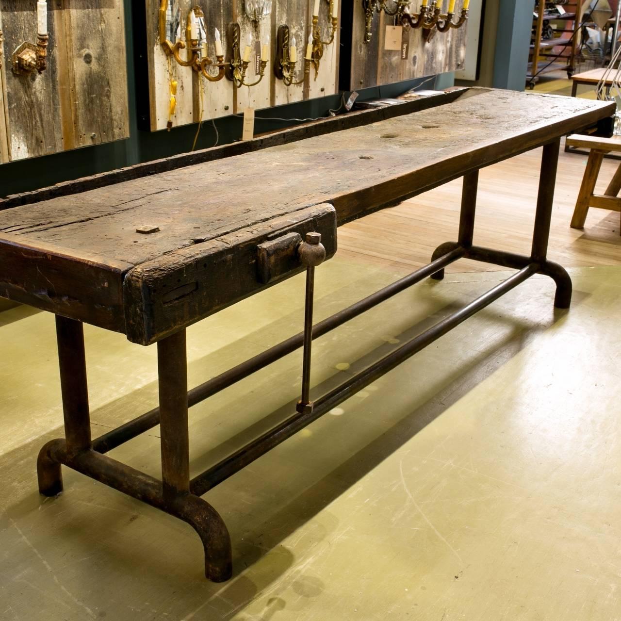 Refurbished Dutch Antique Industrial Work Table, circa 1900 5